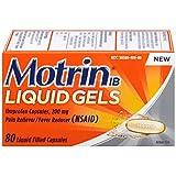Motrin IB Liquid Gels, Ibuprofen, Aches and Pain Relief, 80 Count