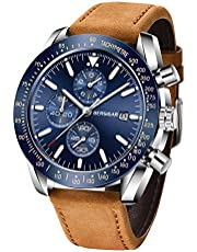 BERSIGAR Herren Geschäft Beiläufig Chronograph Wasserdicht Quarz-Armbanduhr