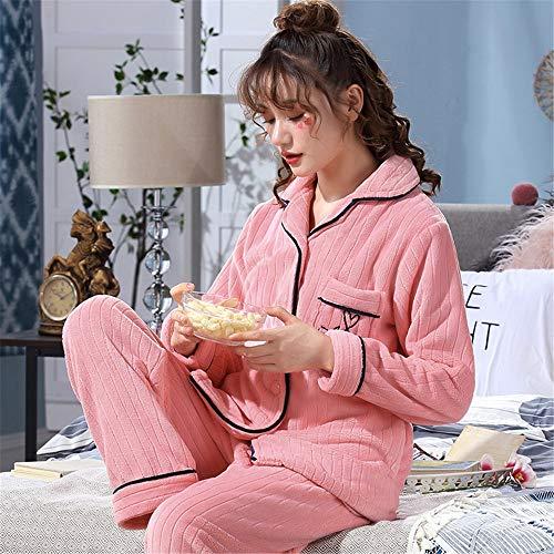 A De Baijuxing Otoño Mujer Sleep Servicio Franela Polar Domicilio Casual Coral Invierno Pijamas Sport E Sets Xxl 2 Pants Suave Cálido Gruesa q7r5wqg