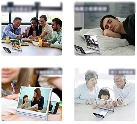 Phone Screen Magnifier,Screen Magnifier for Smartphone,Screen Magnifier Amplifier,Foldable Stand Holder for All Smart Phones