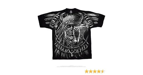 d5818893f52d0e Amazon.com: Fantasy - Wolf Dreamcatcher T-Shirt Size L: Clothing