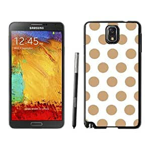 Beautiful Samsung Galaxy Note 3 Case Elegant Polka Dot White and Brown Soft TPU Rubber Black Phone Cover Speck Accessories