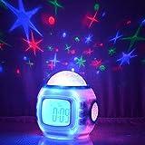 Sky Star Night Light Projector Lamp Bedroom Alarm Clock With music Backlight Calendar