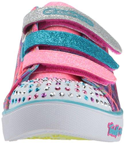 Skechers Mädchen Sparkle Glitz-Pop Party Sneaker Mehrfarbig (Hot Pink/multicolour)