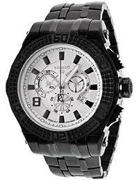 Men's Buzo 52 Chronograph White Dial Black IP Stainless Steel