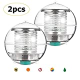 Linkax Solar Floating Light Pond Light Pool Light Color Changing Globe Floating Night Light Waterproof PC Solar Light Swimming Pool Pond Garden Party Home Decoration(2 Pack)