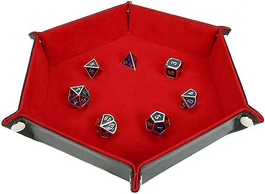 BEESCLOVER - Bandeja de Dados Hexagonal Plegable de Poliuretano para Juegos de Mesa: Amazon.es: Jardín