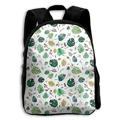 Tropical Leaves Kid Boys Girls Toddler Pre School Backpack B