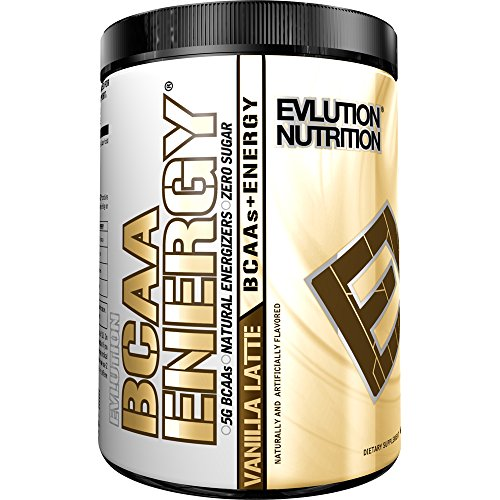 Evlution Nutrition BCAA Energy - High Performance, Energizing Amino Acid Supplement for Muscle Building, Recovery, and Endurance (Vanilla Latte, 30 Servings) by Evlution