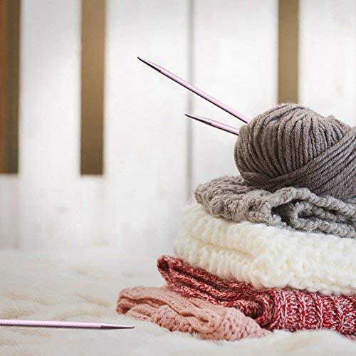 13 Sizes Interchangeable Aluminum Circular Crochet Hook Set 2.75mm-10mm Supply