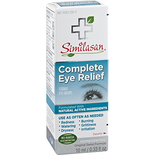 Similasan Complete Eye Relief Eye Drops 0.33 Ounce Bottle, for Temporary Relief from Red Eyes, Dry Eyes, Burning Eyes, Watery Eyes ()