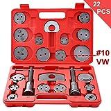 #5: Ztech 22pcs Universal Disc Brake Caliper Piston Compressor Wind Back Repair Tool Kit for Cars