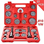 Ztech 22pcs Universal Disc Brake Caliper Piston Compressor Wind Back Repair Tool Kit for Cars