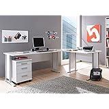 Office Line Winkelkombination Schreibtisch Ecktisch Tisch Bürotisch In Weiss