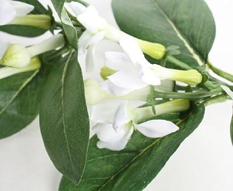 Amazon beautiful artificial white trumpet flowers on a trailing beautiful artificial white trumpet flowers on a trailing vine set of 4 mightylinksfo