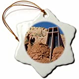 3dRose orn_87974_1 Arizona, Sedona, Chapel of The Holy Cross US03 JWI0214 Jamie and Judy Wild Snowflake Porcelain Ornament, 3-Inch