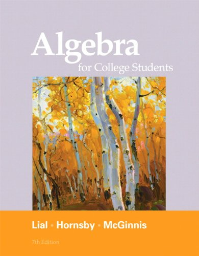[PDF] Algebra for College Students, 7th Edition Free Download | Publisher : Addison Wesley | Category : Science | ISBN 10 : 0321715403 | ISBN 13 : 9780321715401