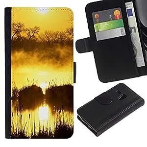 Paccase / Billetera de Cuero Caso del tirón Titular de la tarjeta Carcasa Funda para - Sunset Beautiful Nature 50 - Samsung Galaxy S3 MINI NOT REGULAR! I8190 I8190N