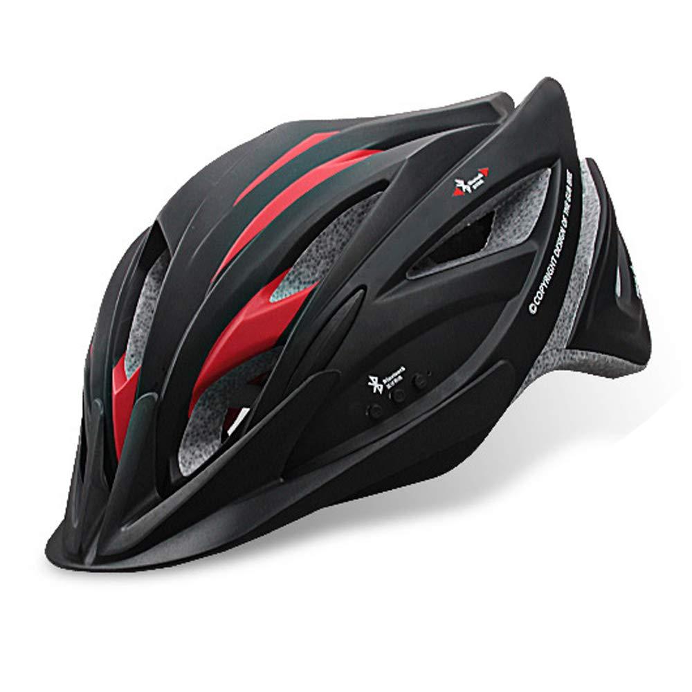LBAFS Smart Fahrradhelm Mit Blautooth Headset Professionelle Musik Fahrradhelm Mountainbike Ausrüstung Einstellbare Größe,A