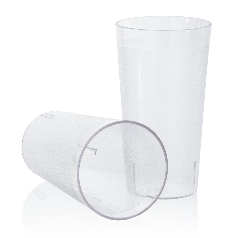 96 Piece Set | Plastic Restaurant Cup Value Pack | 20-ounce Commercial Grade | Clear