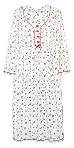 - La Cera Holly Printed Knit Gown X-Large Ivory/Holly