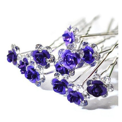 Hair-Pins-TOOGOOR10pcslot-Rose-Flower-Crystal-Rhinestone-Wedding-Party-Bridal-Prom-Hair-Pin-Hair-Clips-Accessory-Purple