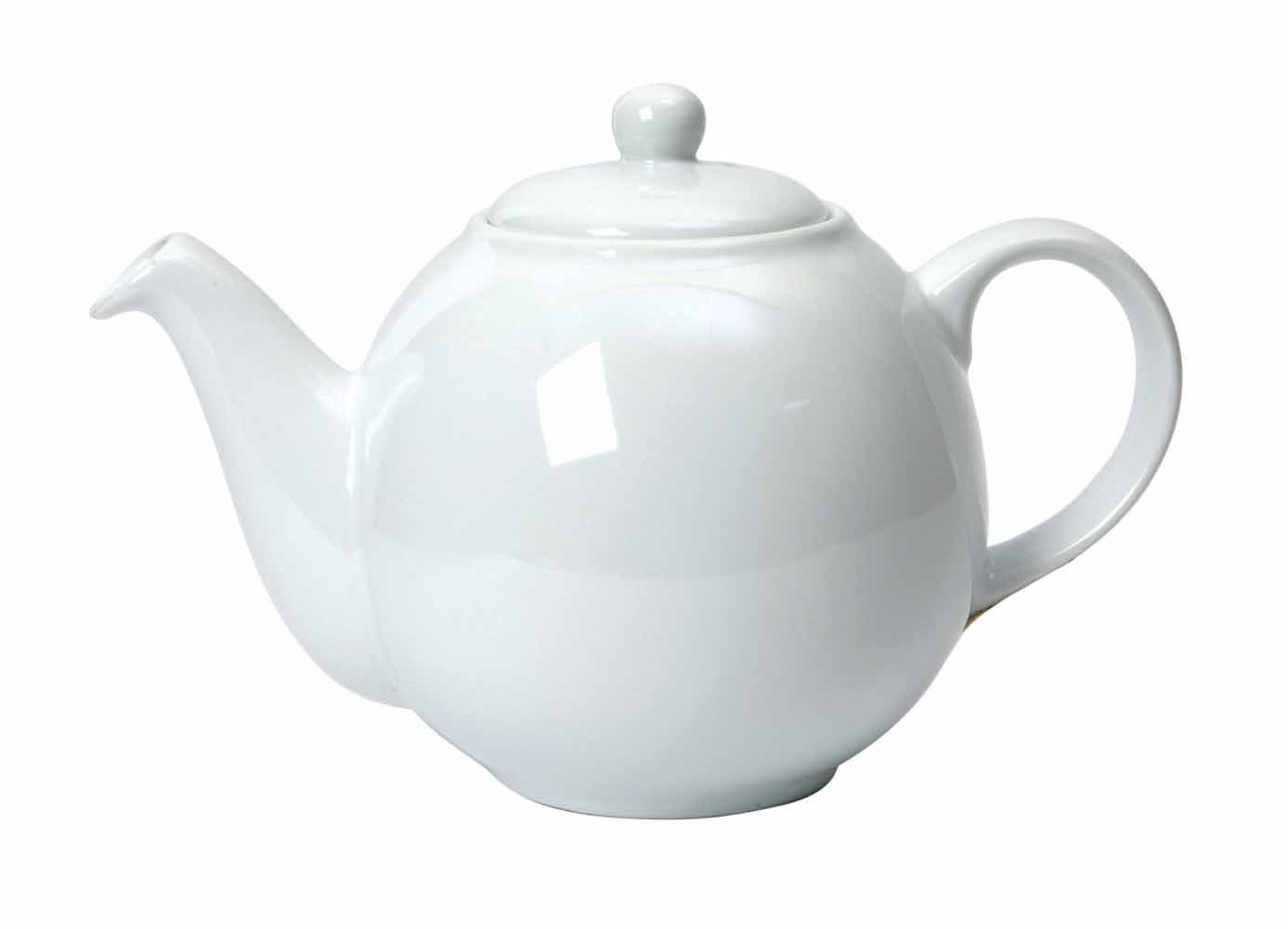London Pottery 4 Cup Globe Teapot White 17232110 Ceramic Gift Boxed Serveware_Teapots_Kettles