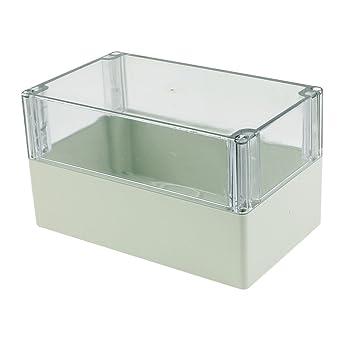 sourcingmap® Caja de empalmes 200 x 120 x 113 mm Cubierta transparente caja sellada impermeable carcasa: Amazon.es: Industria, empresas y ciencia