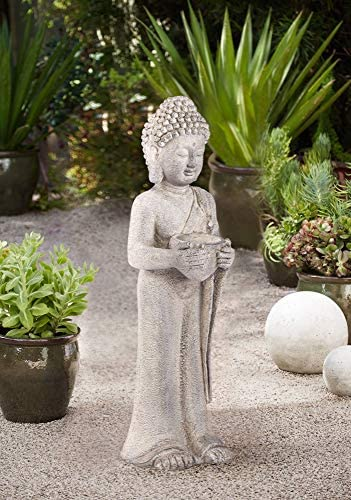 John Timberland Standing Buddha Asian Outdoor Statue 32″ High Sculpture