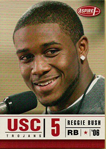 REGGIE BUSH - 2006 ASPIRE COLLEGE FOOTBALL CARD #33 (USC TROJANS) FREE SHIPPING AND TRACKING