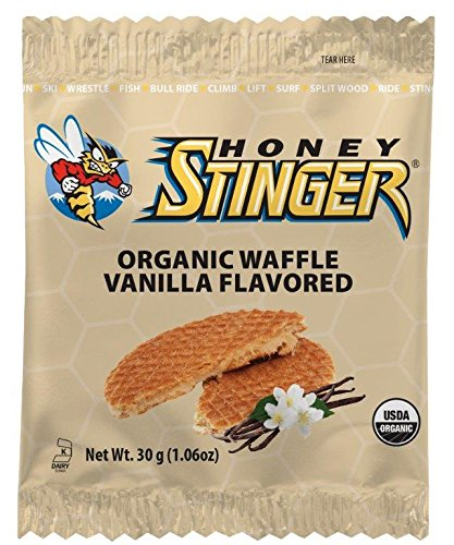 Honey Stinger Organic Waffle, Vanilla, Sports Nutrition, 1.06 Ounce (16 ()