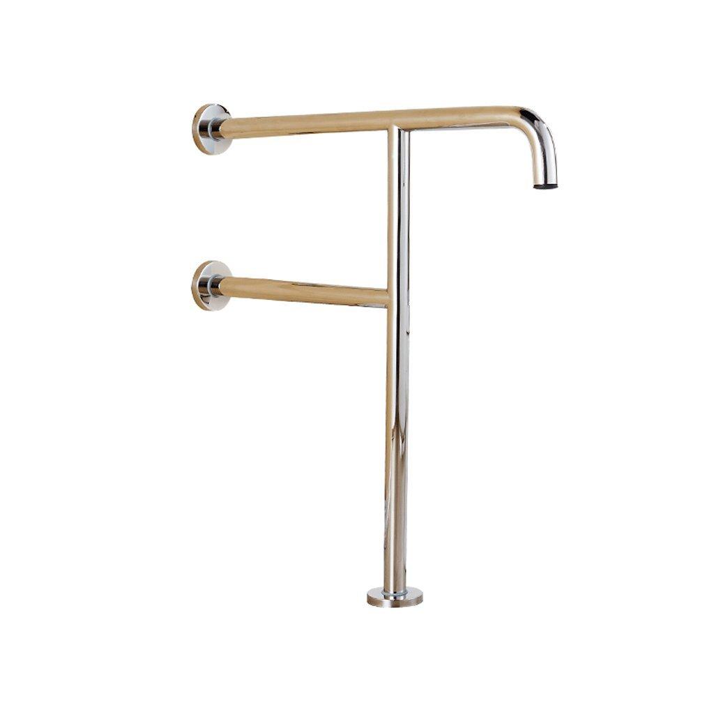 ZfgG Stainless Steel T-type Anti-slip Handrail Bathtub Toilet Safe Barrier-free Elderly Children Floor Handle - Triangular Support 600mm700mm