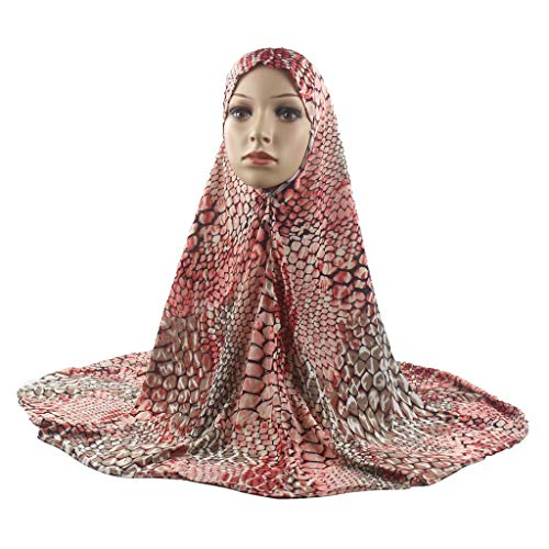 Pollyhb Muslim Women Colorful Hijab Instant Convenient Shawl Head Wear Scarf Turban by Pollyhb's Hats (Image #4)