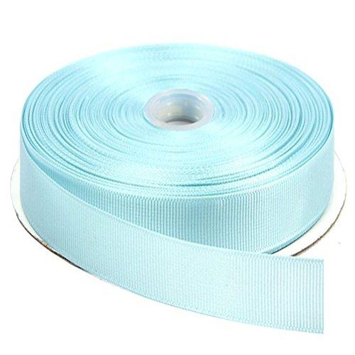 DUOQU 7/8 inch Wide Grosgrain Ribbon 25 Yards Roll Multiple Colors Light Blue