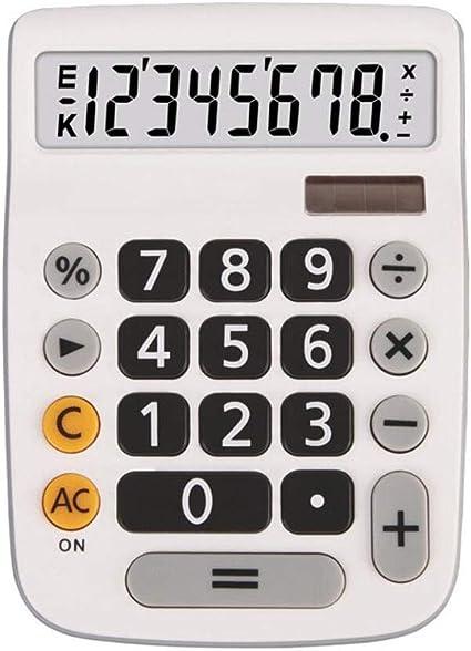 Calculadora Solar Tipo De Escritorio Doble Poder Pantalla Grande De 8 DíGitos Boton Plastico MultifuncióN Oficina Financiera Banco Supermercado Caja Registradora: Amazon.es: Oficina y papelería