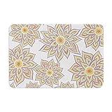 KESS InHouse PG1004BBM02 Bath Mat Pom Graphic Design ''Floral Dance'' Memory Foam Bath Mat, 24'' X 36'',,