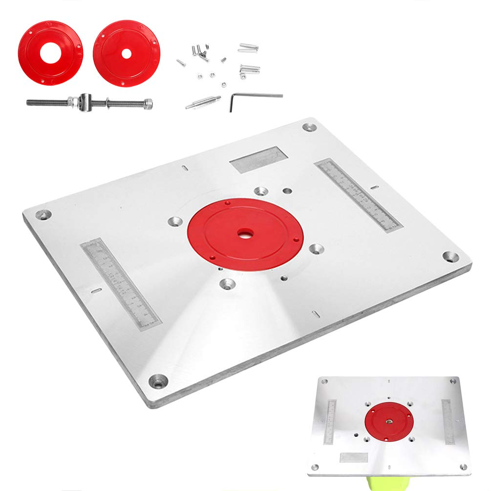 Trimming Machine Flip Board Machine Flip Chip Board Carpenter Trimming Multifunctional Aluminum Alloy Woodworking Benches Insert Plate by Lin-Tong