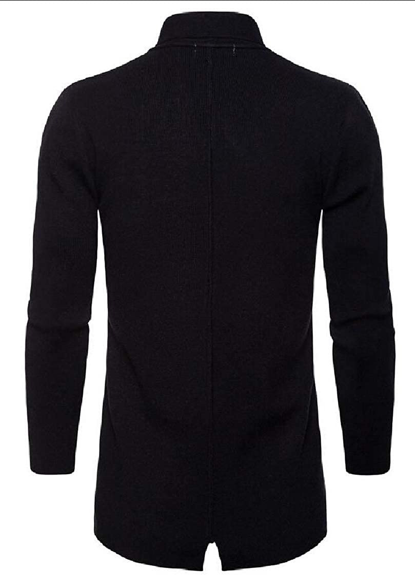 Gocgt Mens Long Sleeve Draped Lightweight Open Front Longline Cardigan Sweater