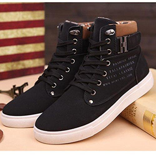 Hombres Altos Casuales para Sneakers 2018 Zapatos Negro Zapatos Toamen 4Oqxaw1