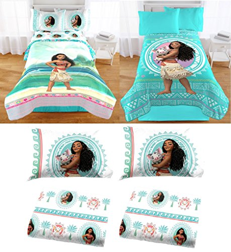 Disney Moana Girls Full Size Bedding Sets (6 piece)