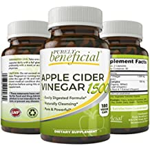 Organic Apple Cider Vinegar 1500mg- Raw, Non-GMO, Extra Strength, 180 Capsules, Vegetarian