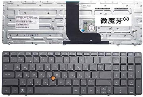 RU black New FOR HP for Probook 8560W 8570W Laptop Keyboard Russian