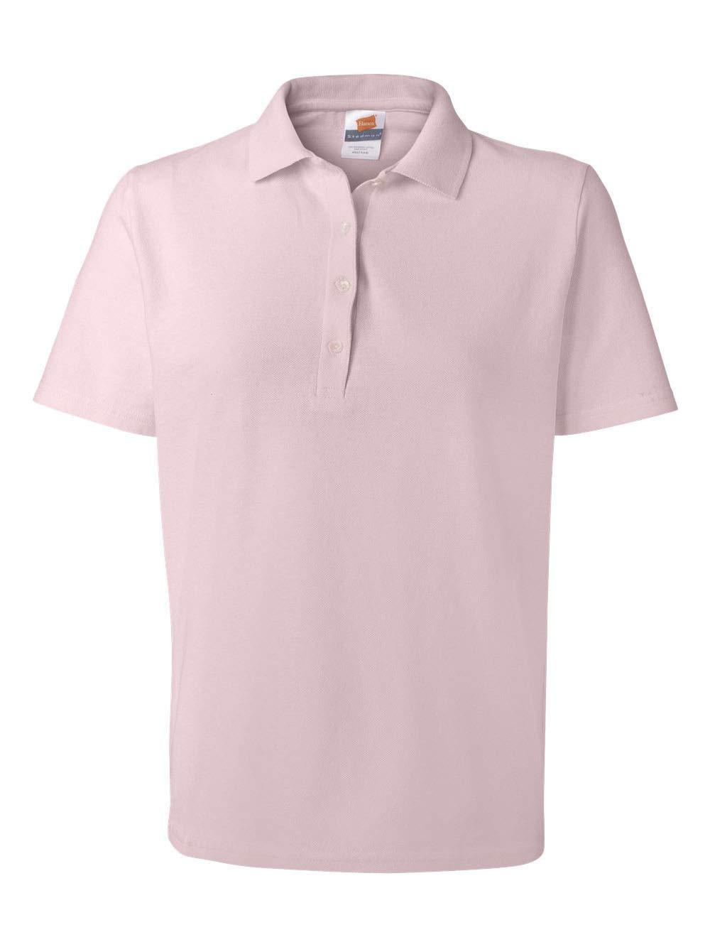 Hanes Womens ComfortSoft Cotton Pique Polo Shirt (035X) -PALE PINK -3XL