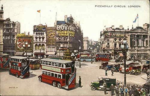 Piccadilly Circus London, England Original Vintage Postcard