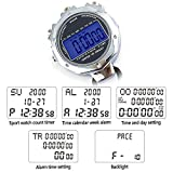 LAOPAO Stopwatch,1/100th Second 2 Lap Memory, Clock Daily Rainproof Digital Timer for Sports Match,Competition,Coach,Referee,Training,Timing