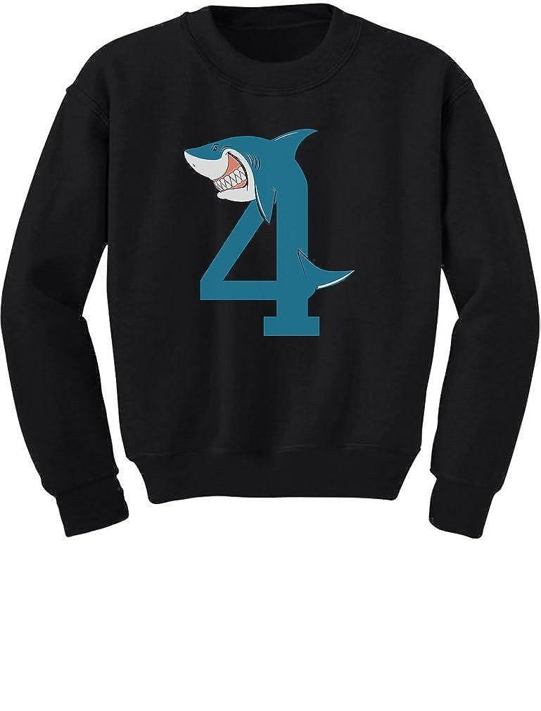 4th Birthday Shark Party Gift for 4 Year Old Toddler//Kids Sweatshirt TeeStars