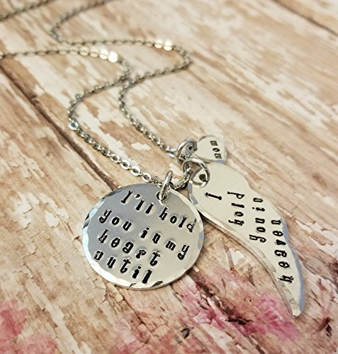 Ill Hold You In My Heart Until I Hold You In Heaven Mom Or Dad Memorial Necklace