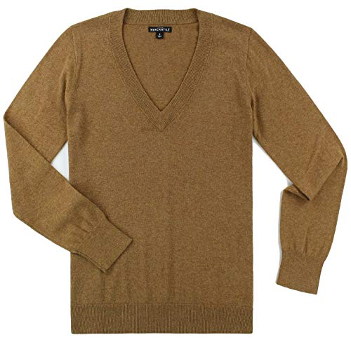 J. Crew - Women's - Cotton V-Neck Sweater (Multiple Colors (Medium, Heather Camel) from J.Crew Mercantile