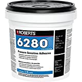 Roberts R6280-1 Adhesive for The Interior Installation Back Commercial Carpet Cushion, Fiberglass Reinforced Sheet Luxury Vinyl Tiles, 1 Gallon