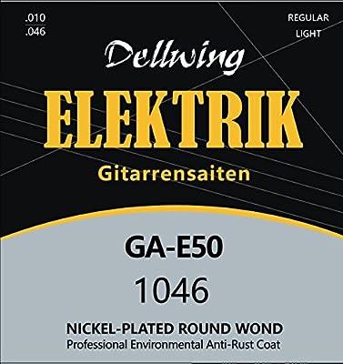 Dellwing Cuerdas guitarra eléctrica - Cuerdas níquel de primera ...
